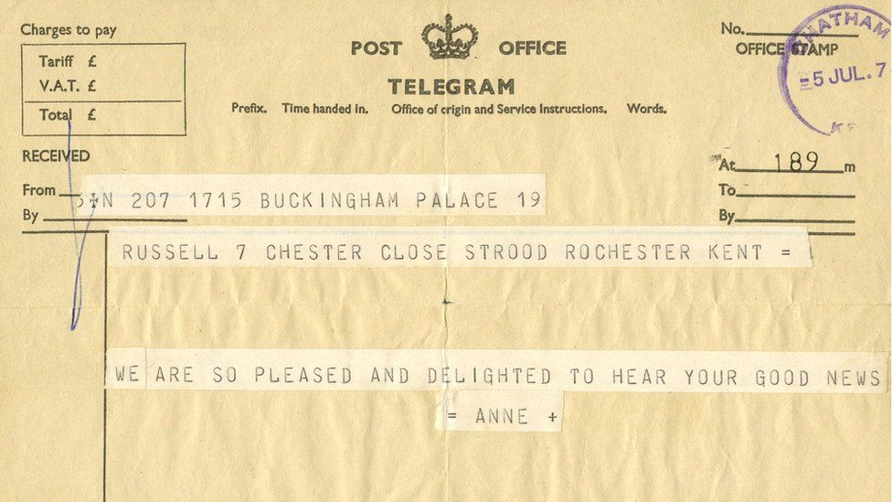 Telegram from Princess Anne