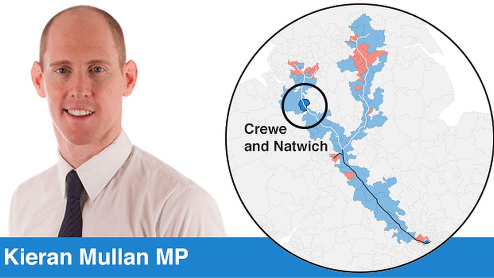 Conservative Keiran Mullan and the location of his constituency