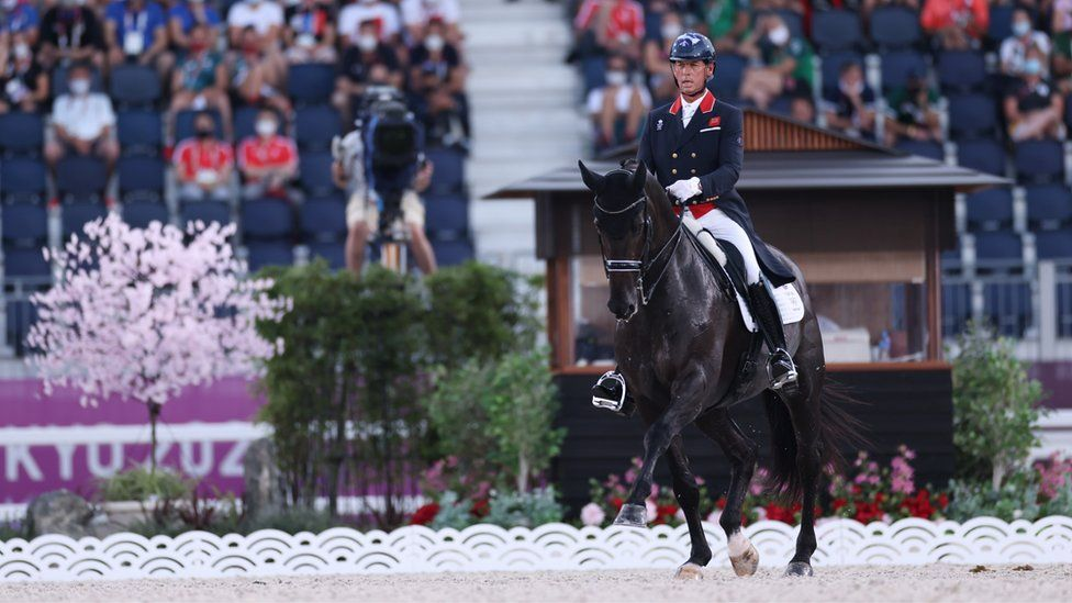 Team GB's Carl Hester riding En Vogue competes in the Dressage Individual Grand Prix Freestyle Final