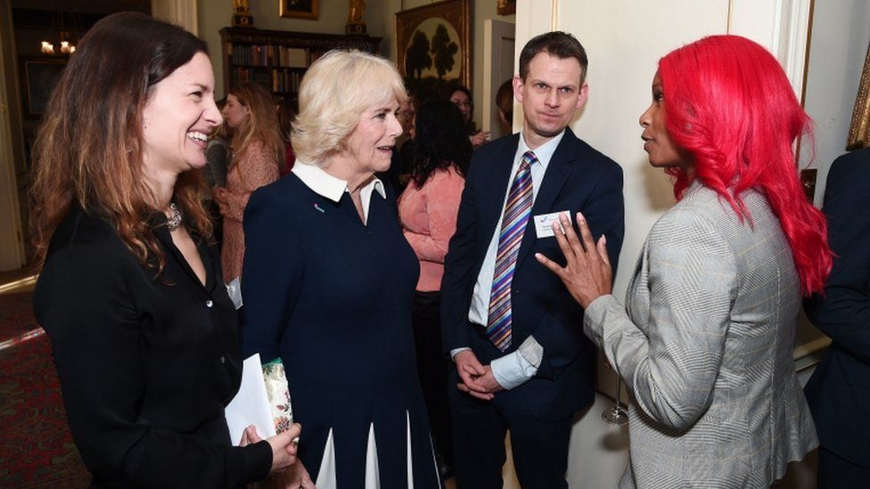 Camilla, Duchess of Cornwall and guests at Clarence House