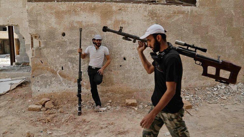 Rebel fighters in Eastern Ghouta (20/07/17)