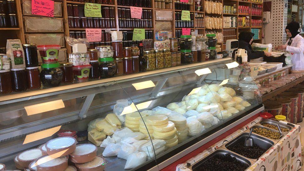 Aynur Gumussoy's delicatessen in the town of Kizilcahamam
