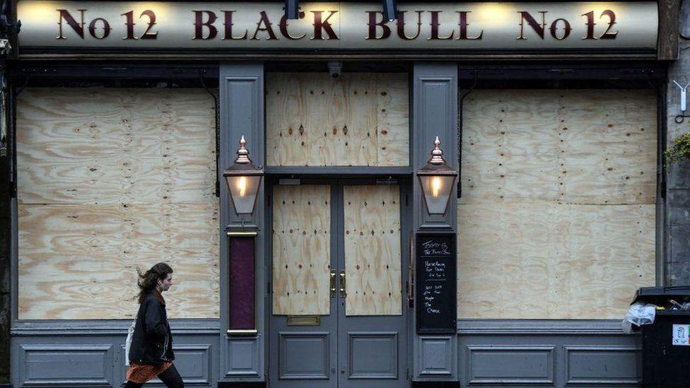 shuttered pub