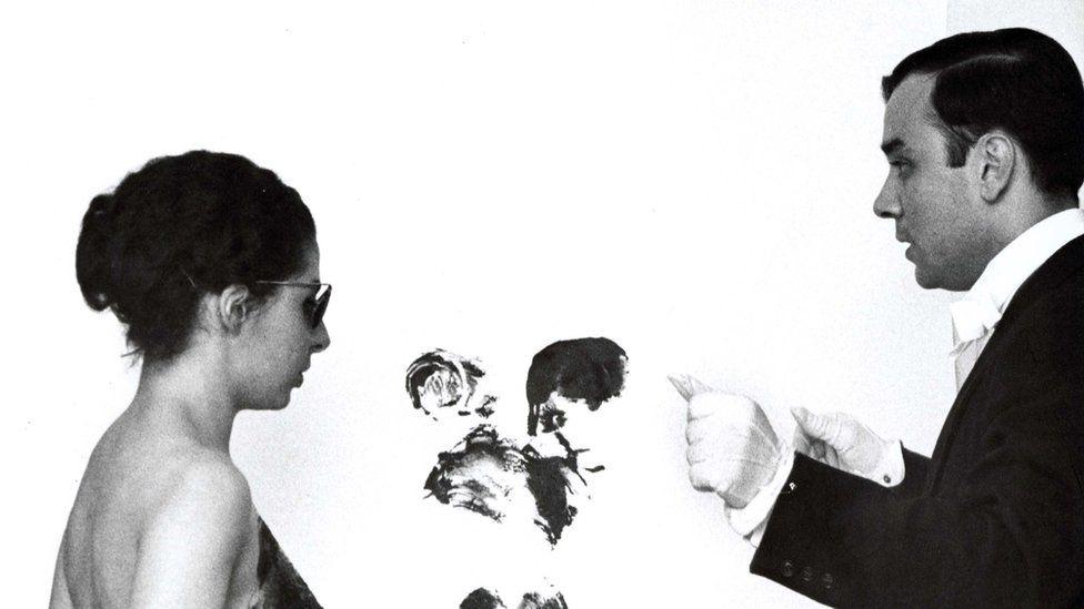Elena Palumbo-Mosca and Yves Klein