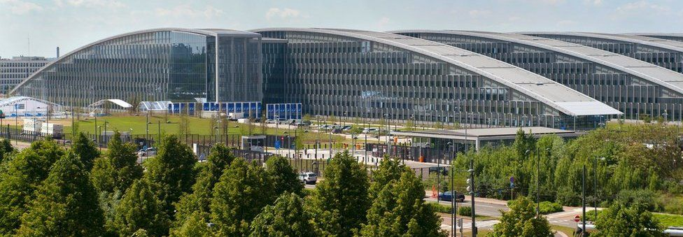 The new Nato buildings at the Nato headquarters in Brussels on 23 May 2017