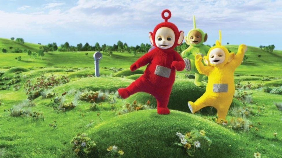 Three of the Teletubbies
