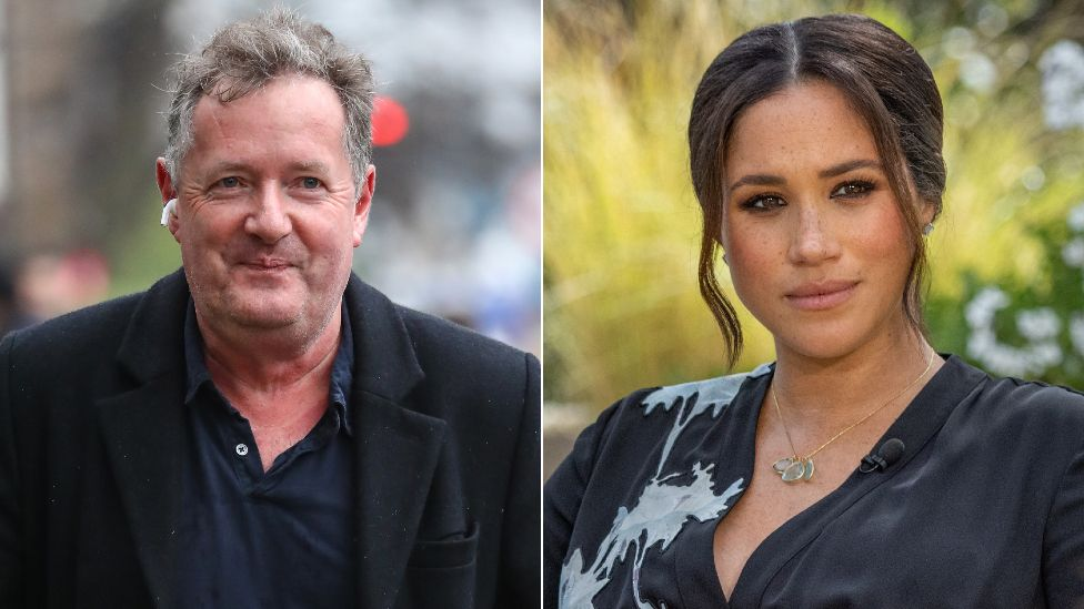 Piers Morgan and the Duchess of Sussex