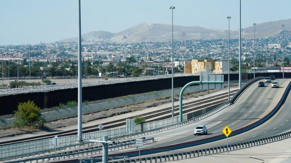 US/Mexican border at El Paso