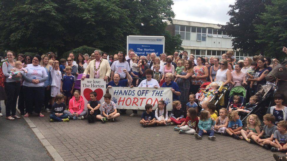 Rally at Horton Hospital