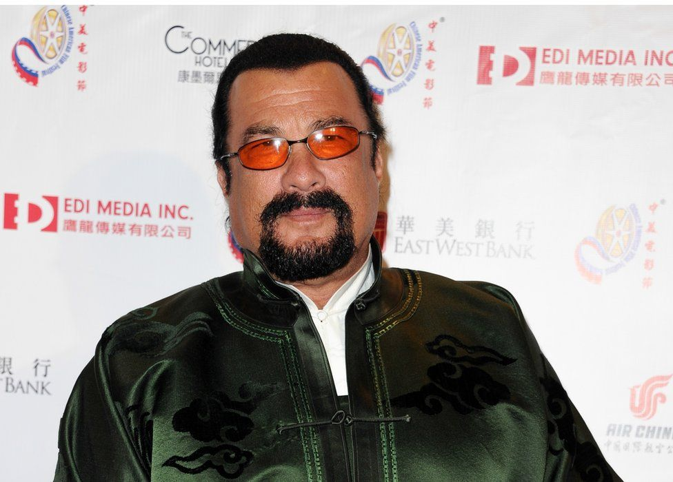 Actor Steven Seagal at the 2014 Chinese American Film Festival in California