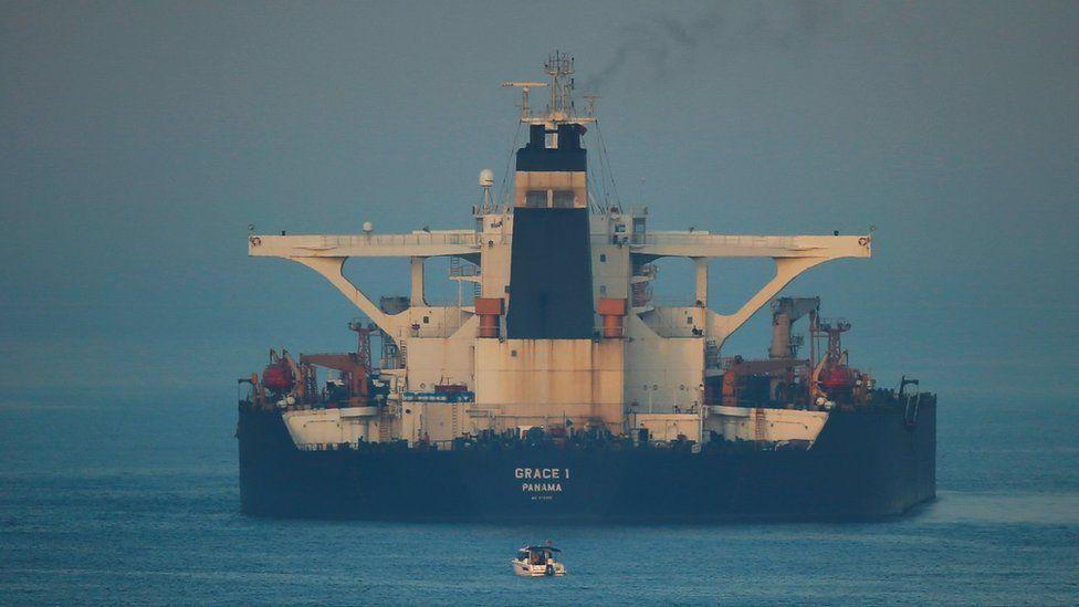 The seized Grace 1 oil tanker