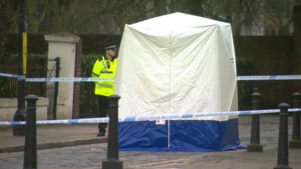 Police scene at location of dead newborn