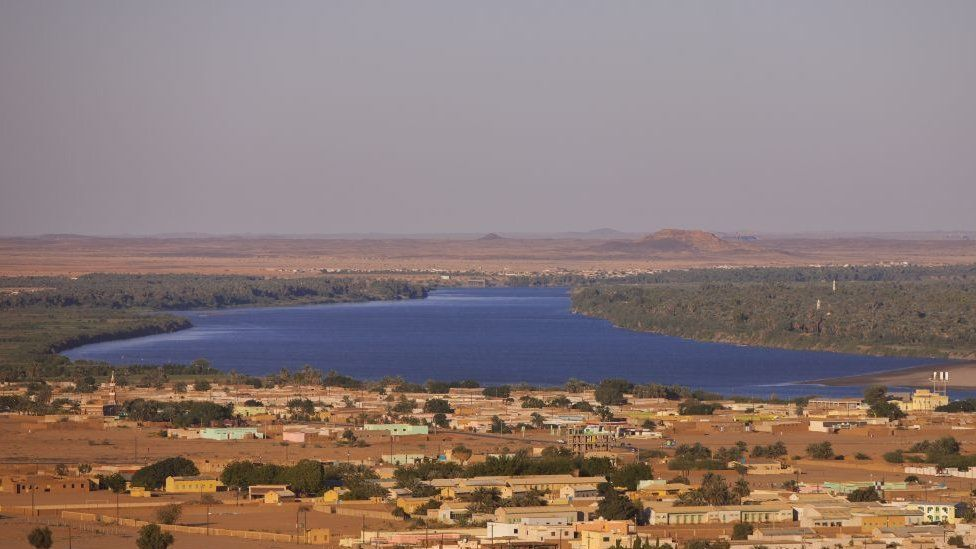 View of Karima town and tge River Nile in Sudan on March 6, 2013