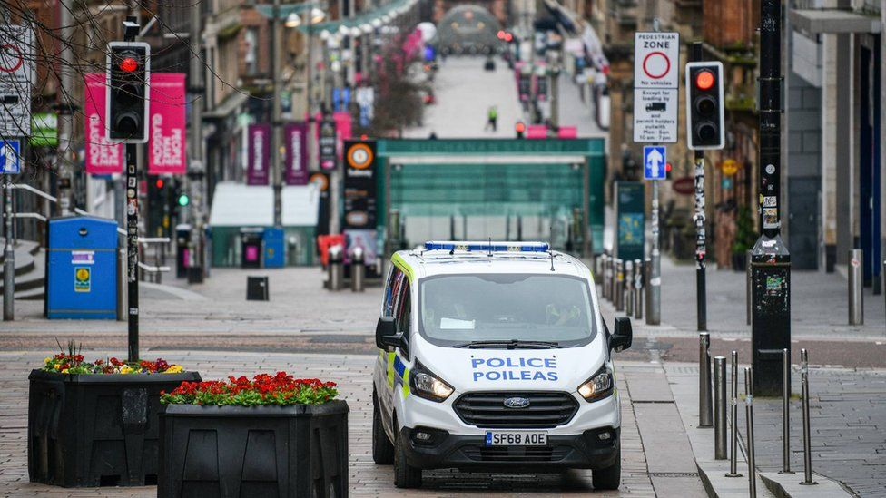 Police vehicle in Glasgow