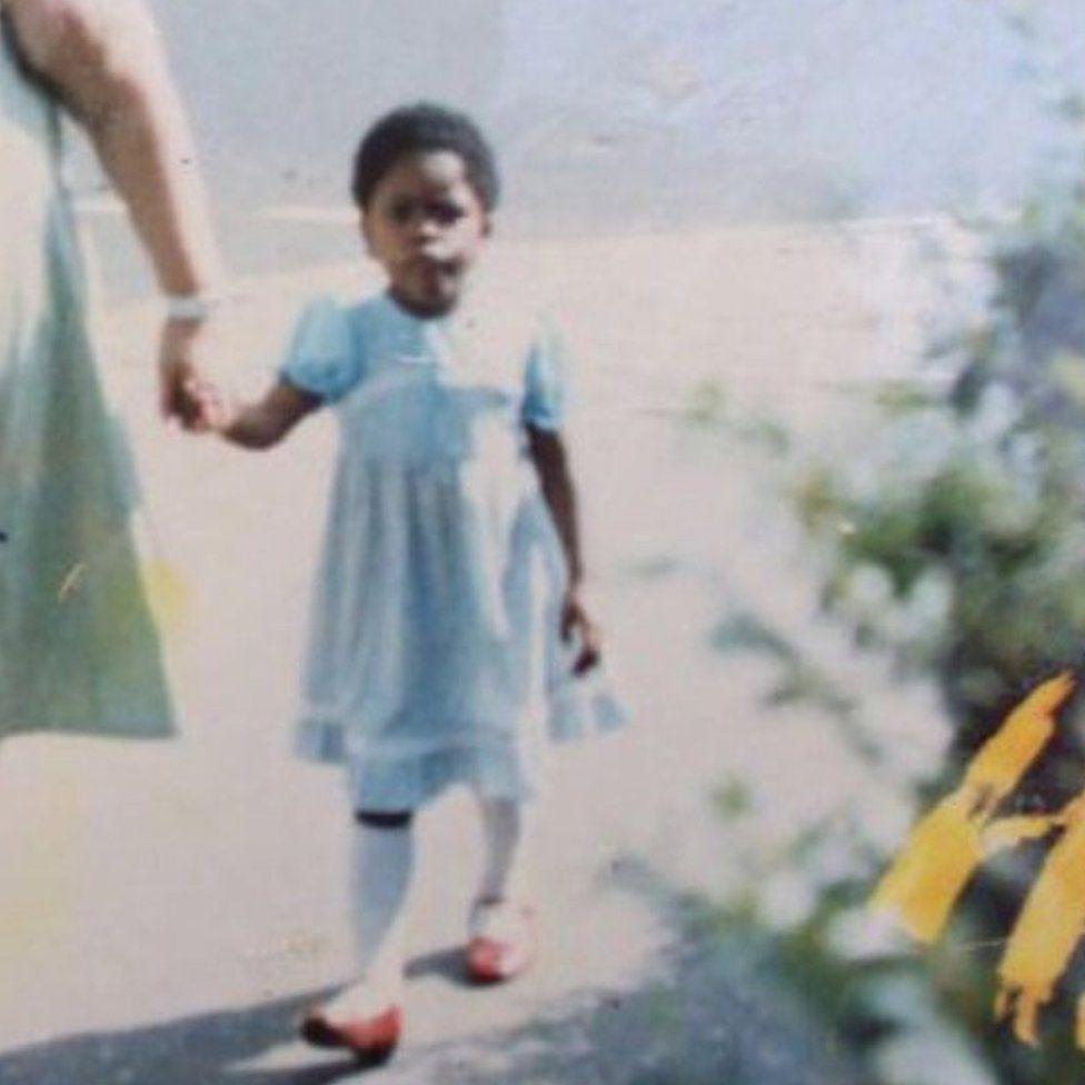 Gina Atinuke Knight as a young girl
