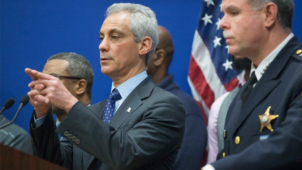 Chicago mayor Rahm Emanuel answers questions about the McDonald case
