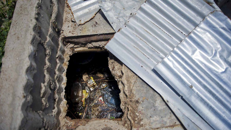 Michal Komape died in this pit latrine at Mahlodumela Lower Primary School