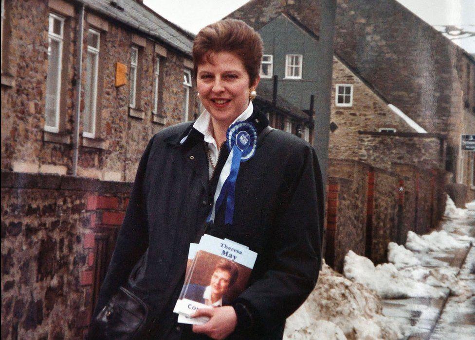 Theresa May in 1992