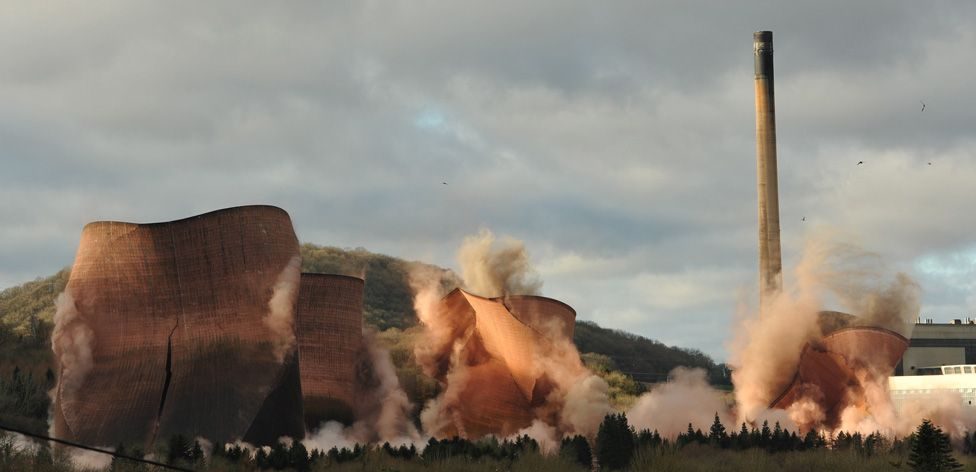Demolition of Ironbridge Power Station