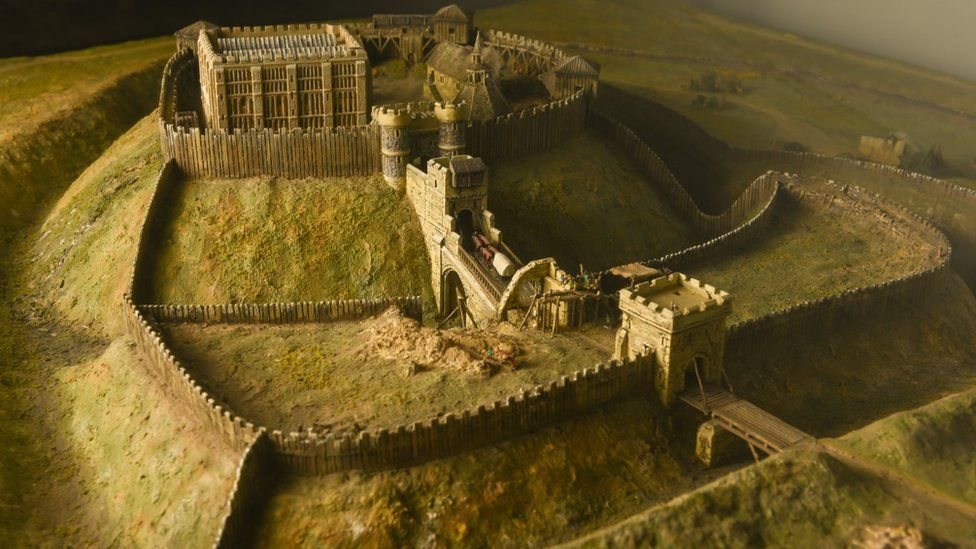 A recreation of the castle