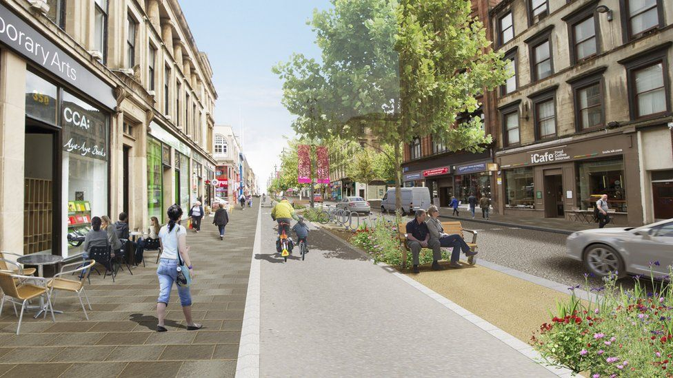 Glasgow shared space