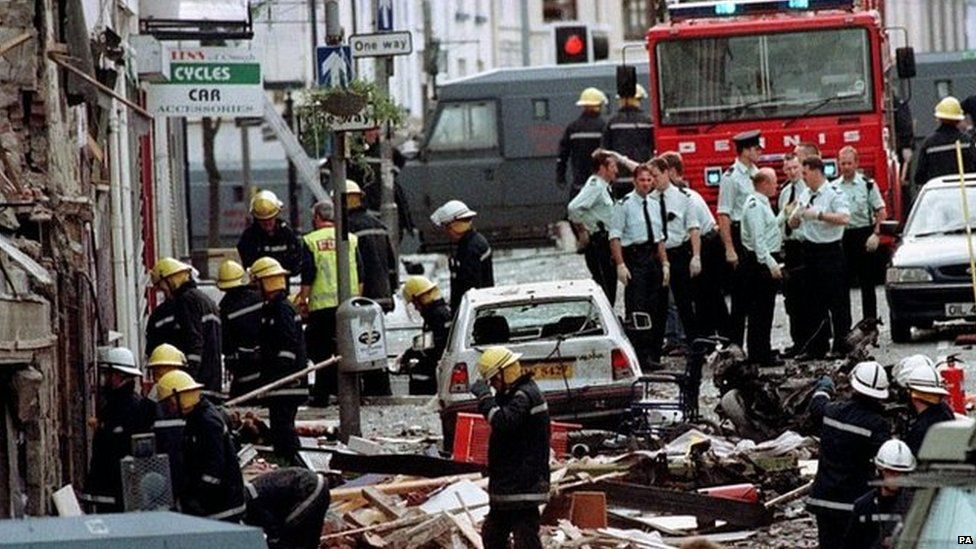 The aftermath of Omagh bombing in 1998