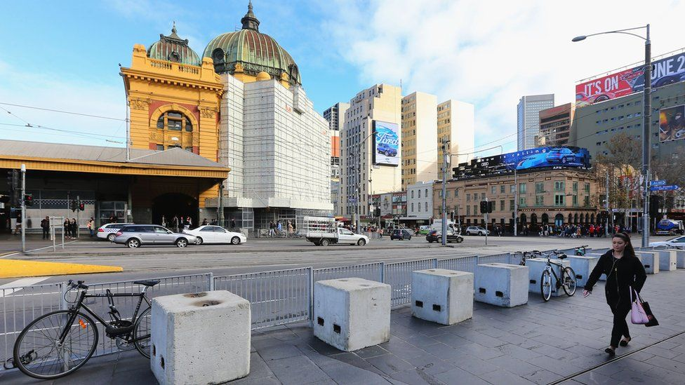 Flinders Street and Swanston Street (File image)