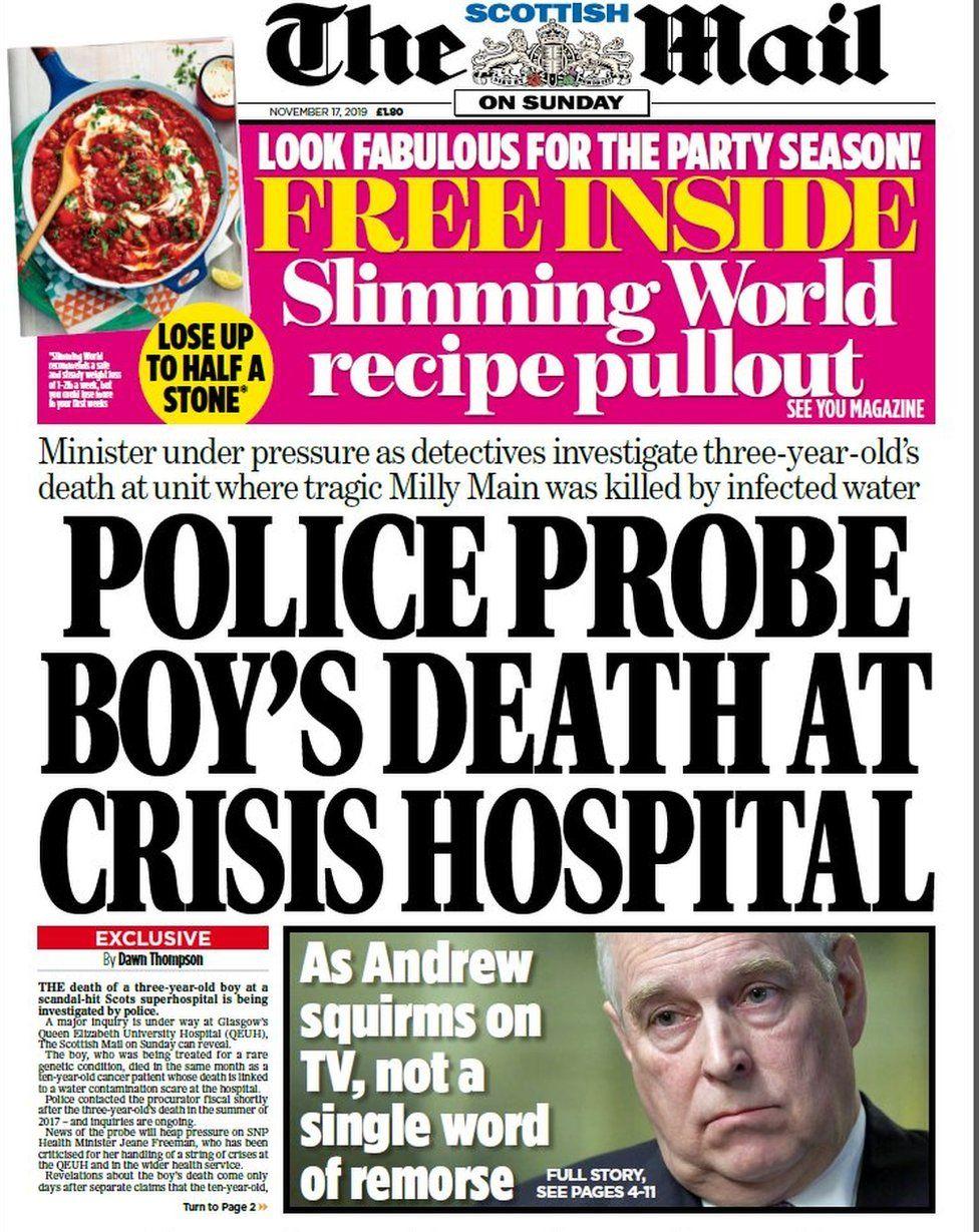 The Scottish Mail on Sunday