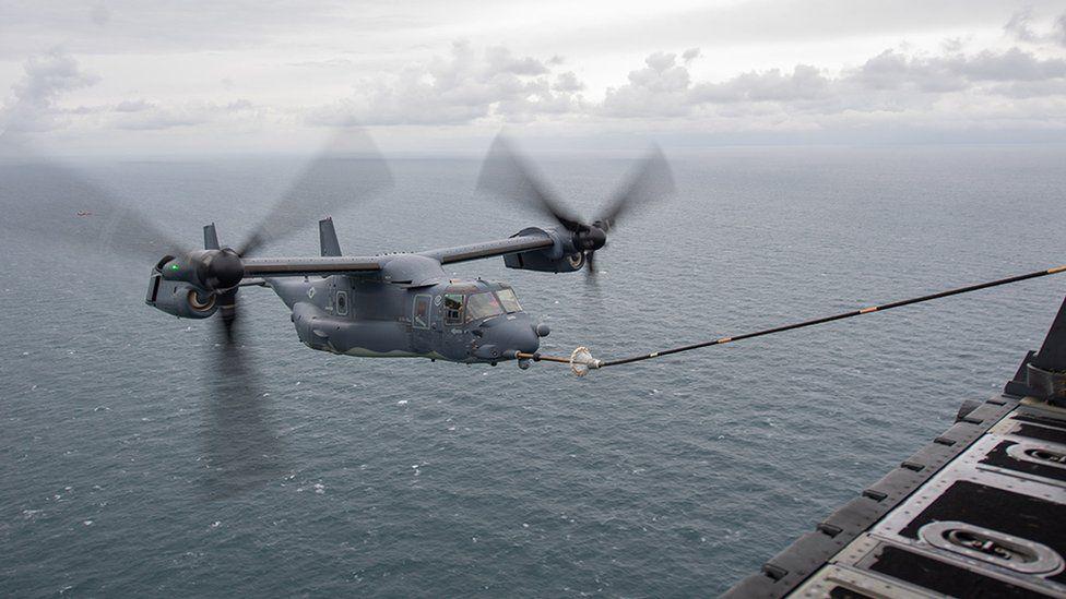 CV-22 Osprey being refuelled