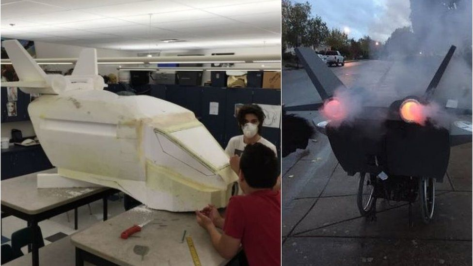 School students got involved in building the Quinjet