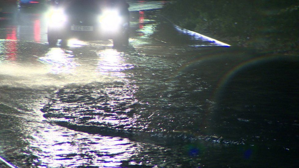 There was some flooding on parts of the Antrim Road in north Belfast