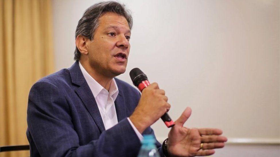 Fernando Haddad speaks at a news conference