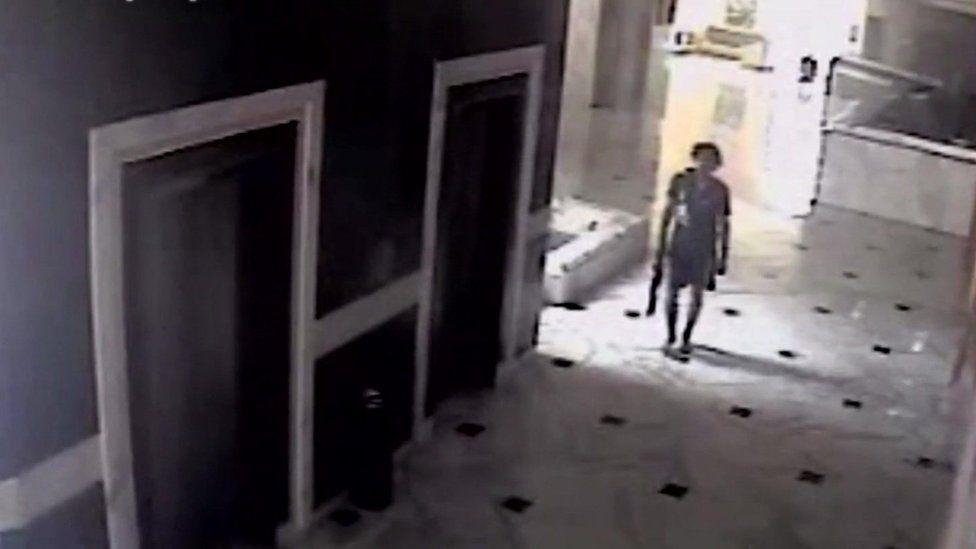 CCTV footage of gunman