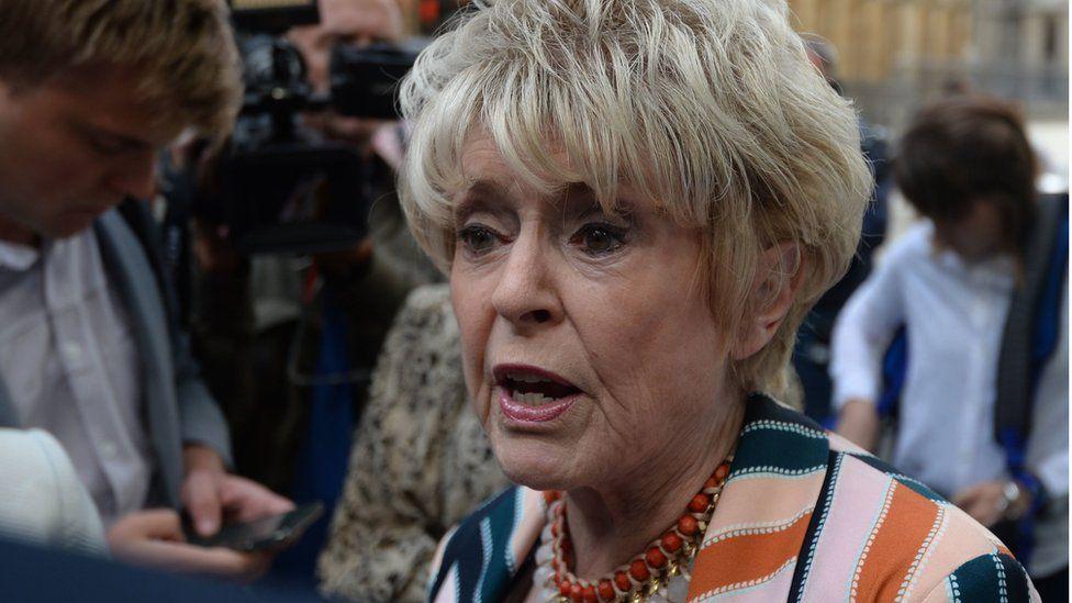 Gloria Hunniford outside court on Wednesday