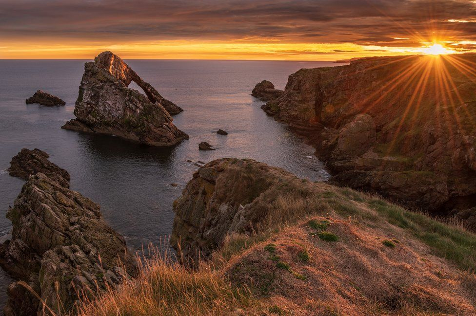 Sunset on rocks