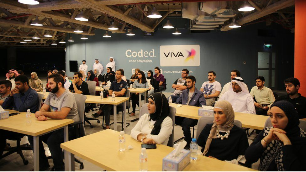 Students at a Coded event