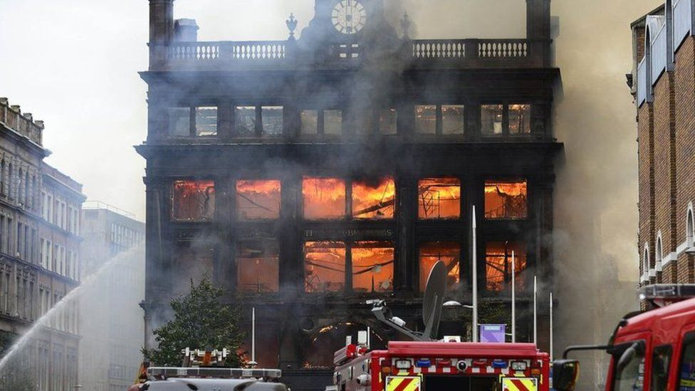 Fire at Bank Buildings