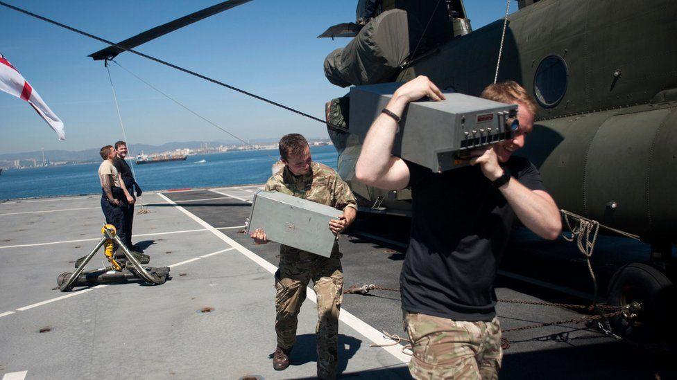 Royal Navy ship prepares to deliver aid