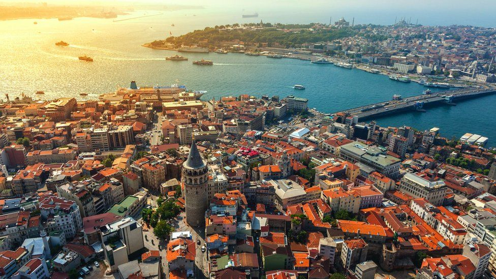 Aerial photograph of Istanbul