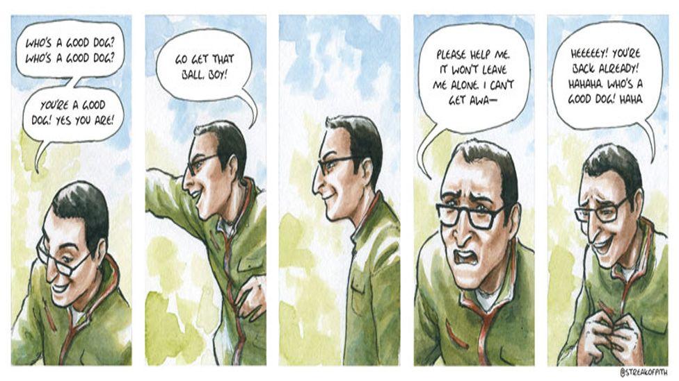 A comic strip by Hannah Berry