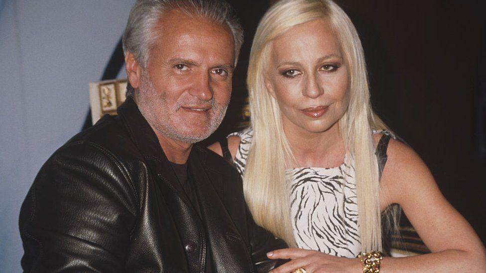 Gianni and Donatella Versace