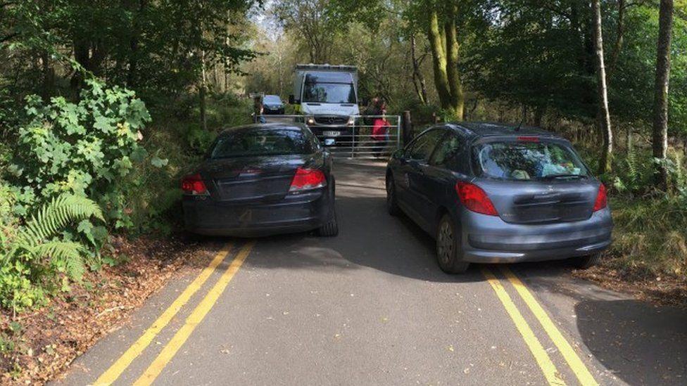 Ambulance blocked at Callander Crags