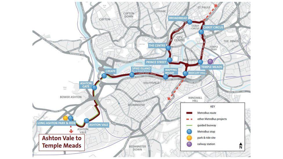 Bristol Metrobus m2 route map