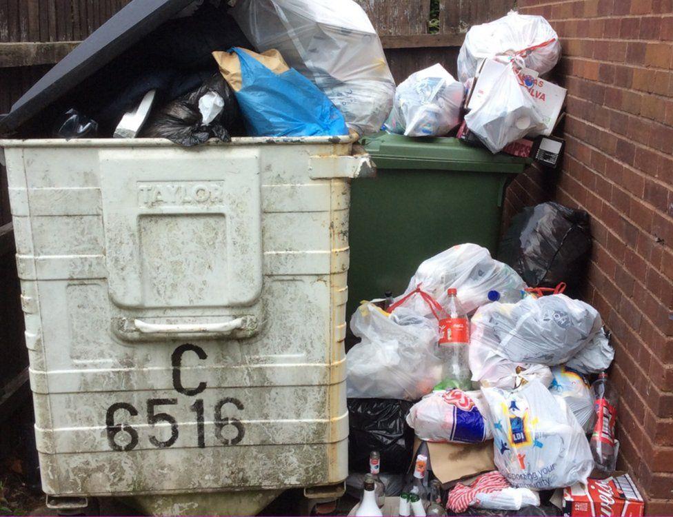 Rubbish at Cedarhurst
