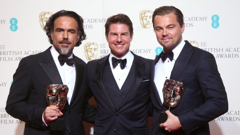 Alejandro G Inarritu, Tom Cruise and Leonardo DiCarprio
