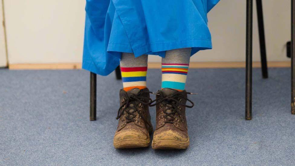 Sanau amryliw. // Stripy socks