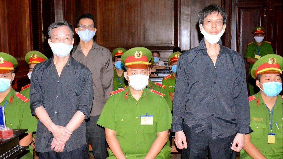 Three men in court