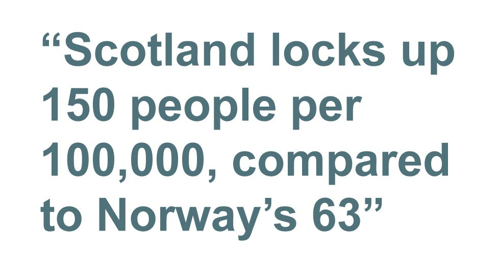 Quotebox: Scotland locks up 150 people per 100,000, compared to Norway's 63
