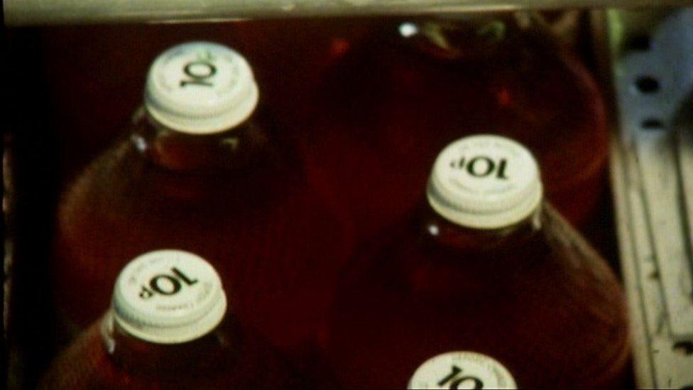 Corona bottles with 10p lids