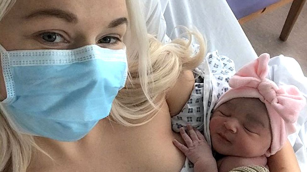 Rebecca Campbell and baby